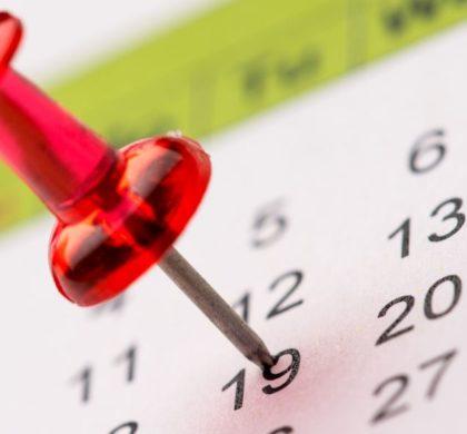 Programação de datas sazonais – agosto a dezembro